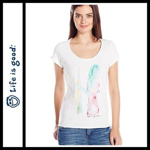 Life is Good Women's Surfer She Smooth Tee NWT